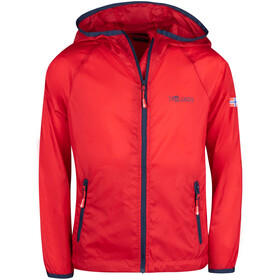 TROLLKIDS Fjell Running Jacket Kids bright red/mystic blue